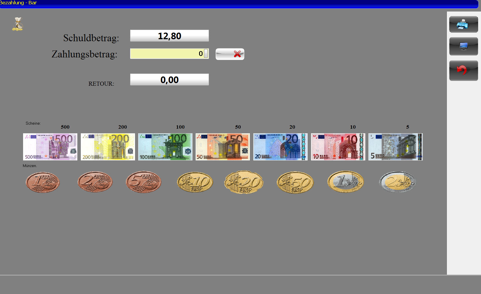 BlitzCash Screenshot Bezahlung